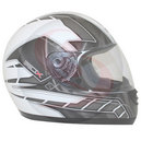 Casque integral ADX rs1 deco blanc-gris   S