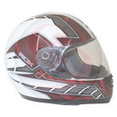 Casque integral ADX rs1 deco blanc-rouge   S