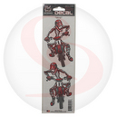 Autocollant lethal threat motocross red (7x25cm) (lt00459)