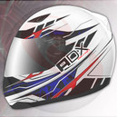 Casque integral ADX xr1 blanc-bleu-rouge xl