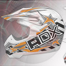 Casque cross ADX mx2 blanc-orange-gris   S
