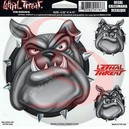 STICKER LETHAL THREAT BULLDOG FACE (15x14cm) (LT00186)